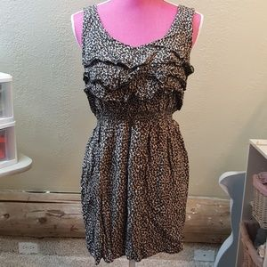 Leopard Ruffle Tunic Dress